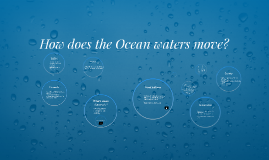 How does the Ocean waters move?