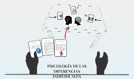 Copy of PSICOLOGÍA DE LAS DIFERENCIAS INDIVIDUALES