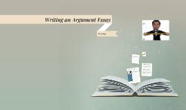 Writing an Argument Essay