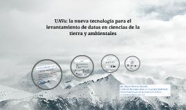 UAV ciencias de la tierra