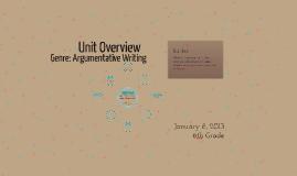 Genre: Argumentative Writing
