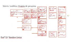 Matriz Analítica: Projeto de pesquisa