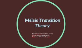 Copy of Meleis Transition Theory