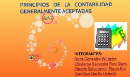 PRINCIPIOS DE LA CONTABILIDAD GENERALMENTE ACEPTADAS