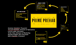 Prime Prehab