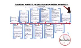 Copy of Línea del tiempo: Momentos históricos del pensamiento filosófico y científico