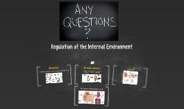 Regulation of the Internal Environment
