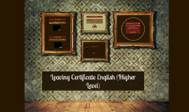 Leaving Certificate English (Higher)
