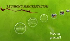 REUNIÓN Y MANIFESTACIÓN