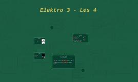 Elektro 3 - Les 4