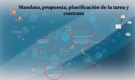 Estrategia, planificación de la tarea y contrato