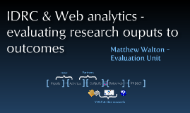Web Analytics & IDRC