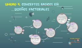 UNIDAD 4 CONCEPTOS BASICOS EN DISEÑOS FACTORIALES