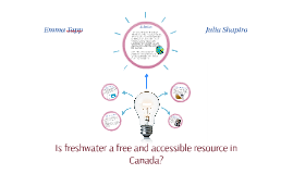 Is freshwater a free and accessible resource in Canada?
