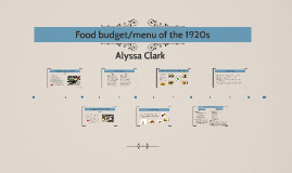 Copy of Food budget/menu of the 1920s