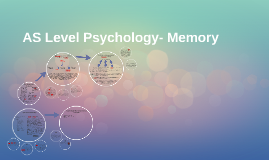 AS Level Psychology- Memory