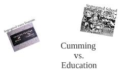 Cumming vs. Education
