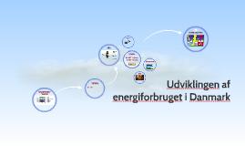 Udiviklingen af energiforbruget i Danmark