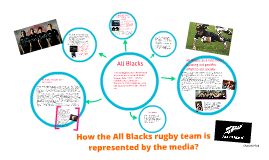 How the All blacks rugby team are represented in the media?