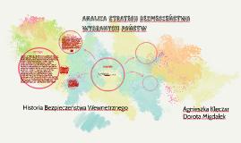 Analiza strategii bezpieczeństwa wybranych państw