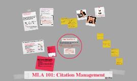 Copy of MLA 101: Citation Management
