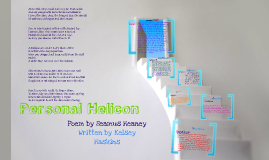 Copy of Personal Helicon by Seamus Heaney