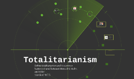 Copy of Totalitarianism