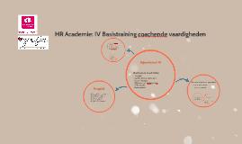 HR Academie: IV Basistraining coachende vaardigheden