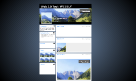 Web 2.0 Tool: WEEBLY