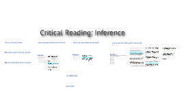 Critical Reading: Inference