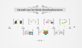 Copy of Op zoek naar het ideale classificatiesysteem