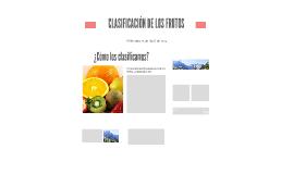 CLASIFICACIÓN DE LOS