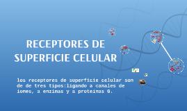 RECEPTORES DE SUPERFICIE CELULAR