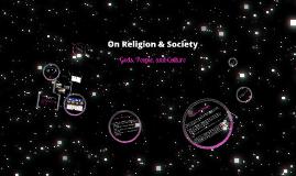 On Religion & Society