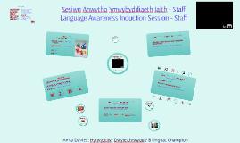 Main Induction - Welsh Lang Awareness