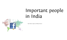 Important people in India