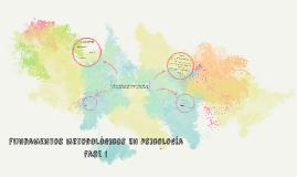 fundamentos metodológicos en psicología