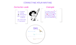 Correcting your writing