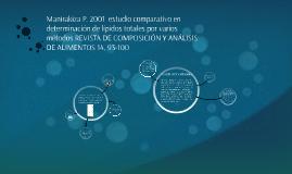 Manirakiza P. 2001  estudio comparativo en determinación de