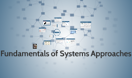 Fundamentals of Systems Approaches