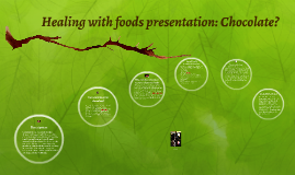 Healing with foods presentation: Chocolate?