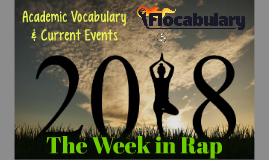 2018 Academic Vocabulary & Current Events