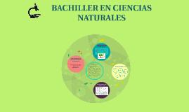 BACHILLERE EN CS. NATURALES