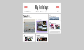My Holidays