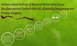 Antimicrobial Activity of Matured Water from Cocos Nucifera