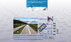 """El procedimiento abierto """"simplificado"""". La autopista de la contratación pública."""