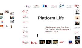 Even terug naar Hoorcollege 4: Wat is een platform?