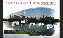 CHAPITRE 5: L'UNION EUROPEENNE, UN TERRITOIRE DE REFERENCE ET D'APPARTENANCE