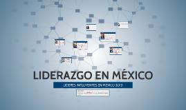 LIDERAZGO EN MÉXICO