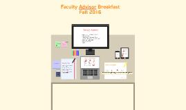 Faculty Advisor Fall Meeting